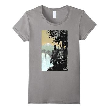 Marvel Black Panther Jungle Canvas Painting Graphic T-Shirt