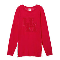University Of Houston Varsity Side-Zip Crew - PINK - Victoria's Secret