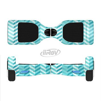 The Light Blue Thin Lined Zigzag Pattern Full-Body Skin Set for the Smart Drifting SuperCharged iiRov HoverBoard