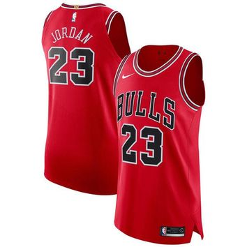 Michael Jordan Chicago Bulls # 23 Nike Red Authentic Jersey - Best Deal Online