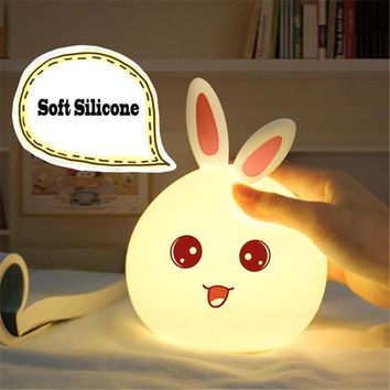 Touch Sensor Silicone Bunny Kids Lamp