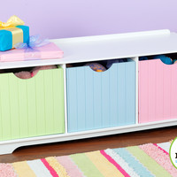 KidKraft Nantucket Storage Bench - Pastel - 14565