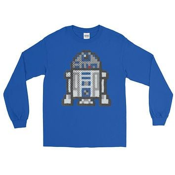 R2-D2 Perler Art Long Sleeve T-Shirt by Aubrey Silva