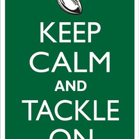 KEEP CALM and TACKLE On Football Tin Aluminum Parking sign home decor wall hanging