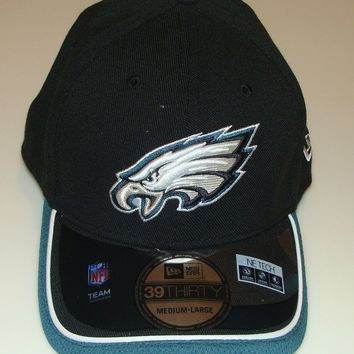 New Era Hat Cap NFL Football Philadelphia Eagles New Era On-Field 39THIRTY L/XL