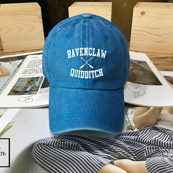 Ravenclaw Quidditch Harry Potter Hogwarts hat Black Blue White - Baseball Cap, Dad Hat Baseball Hat, Low-Profile Baseball Cap Tumblr