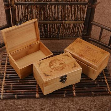 Wooden Box Vintage Storage Box Wood Box For Jewelry Makeup Organizer For Cosmetics Wooden Caskets Container Engraving