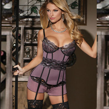 On Sale Hot Deal Cute Spaghetti Strap V-neck Sleepwear Sexy Plus Size Exotic Lingerie [6596476931]