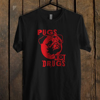 Pugs Not Drugs Red Mens T Shirt *