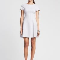 Banana Republic Womens Seamed Ponte Fit And Flare Dress