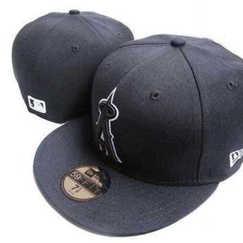 Los Angeles Angels Of Anaheim New Era 59fifty Mlb Hat Black