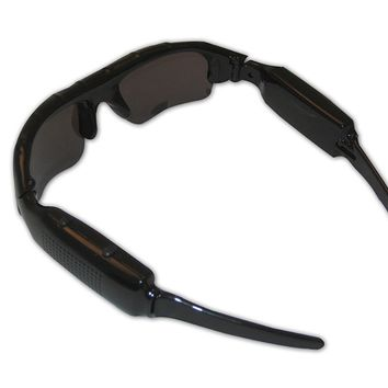 Extra Storage Capable DVR Camcorder Sunglasses Audio Video Recording
