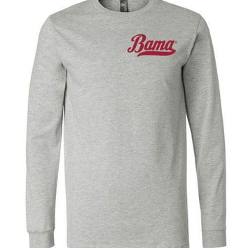 Official NCAA Venley University of Alabama Crimson Tide UA ROLL TIDE! Bama Long Sleeve T-Shirt - 12AL-2