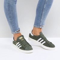 adidas Originals Campus Trainers In Khaki at asos.com