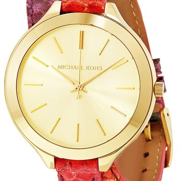 Michael Kors MK2390 Slim Runway Multi-colored Leather Women's Watch