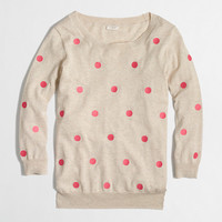 Factory embroidered dot pullover - crewnecks & boatnecks - FactoryWomen's Sweaters - J.Crew Factory