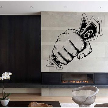 Wall Stickers Money Power Fist Art Mural Vinyl Decal Unique Gift (ig1957)