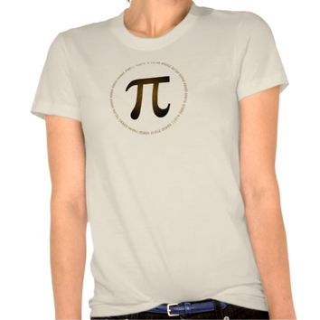 Chocolate Pi Design Tshirt