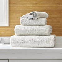 Rowan Grey Bath Towels