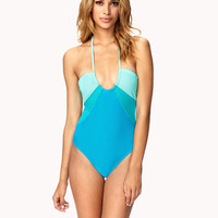 Colorblocked One-piece
