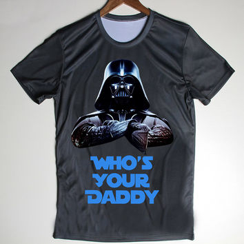 Star Wars Men's T Shirts Inspired Darth Vader Who's Your Daddy Funny Top Tee Normal Neck Clothing Size S-2XL