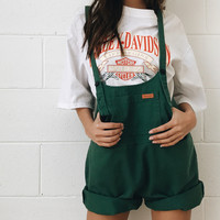 When I Met Kate Dungarees // Green