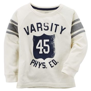 Carter's ''Varsity 45 Phys. Ed'' Stripe Tee - Boys