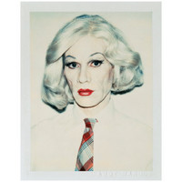 Self-Portrait in Drag, c.1981 (straight on) Prints by Andy Warhol at AllPosters.com