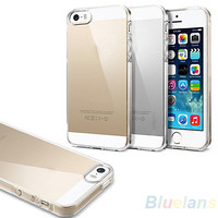 New Crystal Clear/Transparent Black Soft Silicone TPU Cover Case  phone cases for iPhone 5 5S case