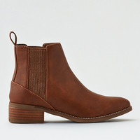 AEO Solid Flat Bootie, Dark Tan