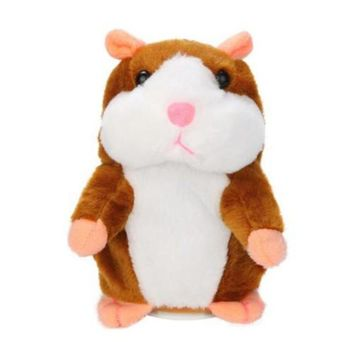 Lovely Talking Plush Hamster Toy, Can Change Voice, Record Sounds, Nod Head or Walk, Early Education for Baby, Different Size for Choice