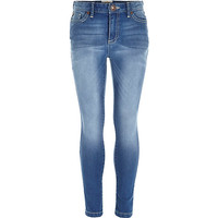 River Island Girls blue medium wash jeans