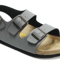 Birkenstock Milano Sandals Leather Gray - Ready Stock
