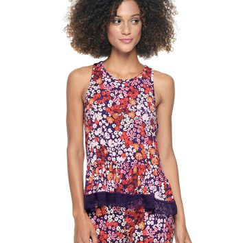 Aub-Peony Boho Goddess Petunia Sleep Essentials Tank by Juicy Couture,