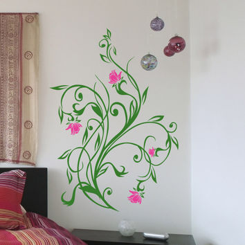 Vinyl Wall Decal Sticker Flower Vines #5321