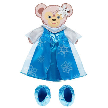 """Disney Parks Frozen Elsa Costume Set for 17"""" Shelliemay Bear New with Box"""