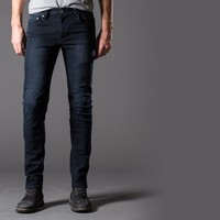 [Cult Logic] Skinny, Washed Jeans in Indigo Black