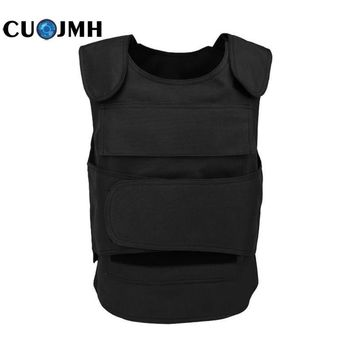 No Steel Plate Survival Tactical Vest Security Guard Bulletproof Protecting Clothes Insertable Steel Plate Safety Oxford Vest