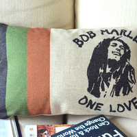 Bob Marley Print Decorative Pillow  on Luulla