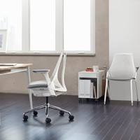 SAYL® Side Chair with Arms, 4-Leg Base