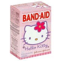 Band-Aid Brand Adhesive Bandages, Hello Kitty Decorated Bandages, 20 Count (Pack of 3)