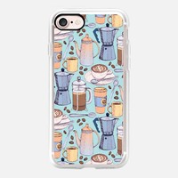 Coffee Love on Blue iPhone 7 Case by Micklyn Le Feuvre | Casetify