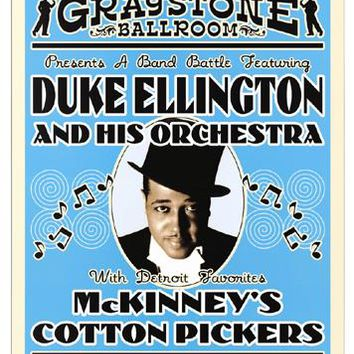 Duke Ellington: Graystone Ballroom Detroit 1933 Unknown Art Print
