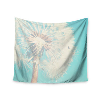"Sylvia Coomes ""Aqua Dandelion"" Photography Floral Wall Tapestry"