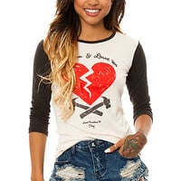 The 89 Heartbreakers Tee in White and Black