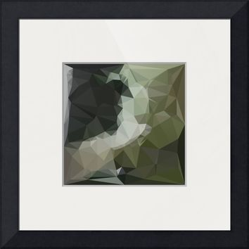 """Dark Slate Gray Abstract Low Polygon Background"" by Aloysius Patrimonio"