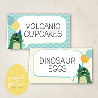 Printable Place Cards: Dinosaur [Instant Download]