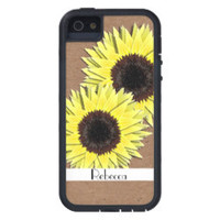 Sunny Yellow Sun Flower Heads Cover For iPhone 5