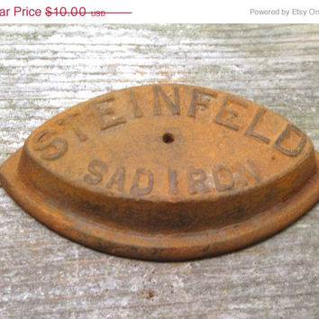 Steinfeld, Sad, Cast Iron, Rusty, Iron, Door, Stop, Weight, Old, Flat, Metal, Art, Supply, DIY, Rustic, Farmhouse, Chic, Room, Decor, Gift