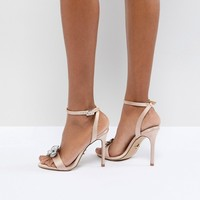 Lipsy Barely There Heeled Sandal With Embellishment at asos.com